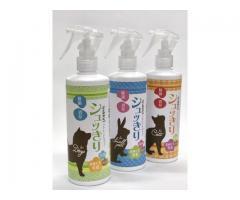 岡山の除菌水製造装置メーカーで働く女性社員が全力開発。安心安全に使えるペット専用除菌・消臭水『シュッきり』を発売