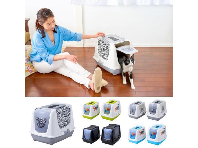 ベルギーの猫トイレ「トレンディキャット」の柄とカラーがリニューアルして発売されました。