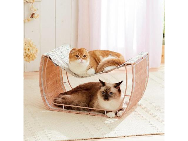 猫が好む、高さのあるベッドとハンモックを一体化。ゆったり心地いい「ゆらゆらハンモック」を発売。(ペット用品の通販ショップ PEPPY)